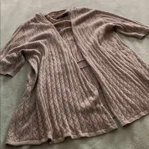 The limited xl tan cardigan open front sweater